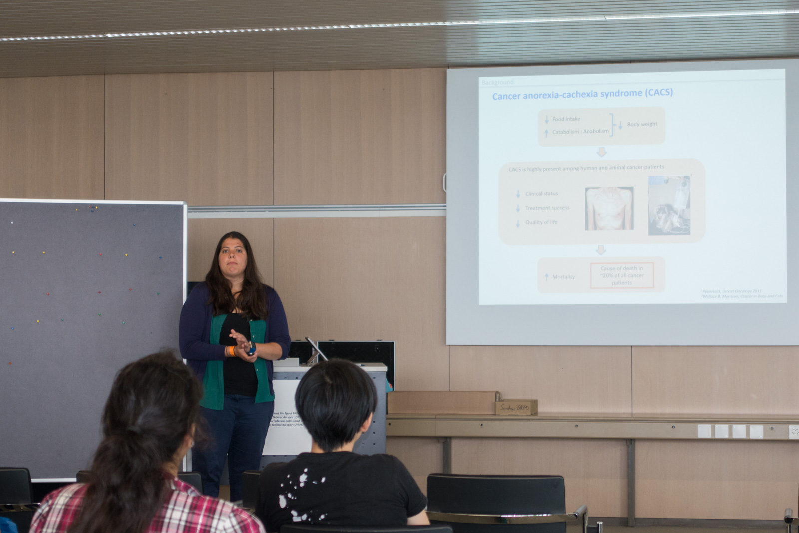 <p>Fabienne Villars presenting her project</p>